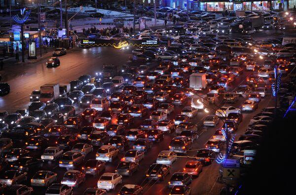 Traffic jam in Moscow - Sputnik International
