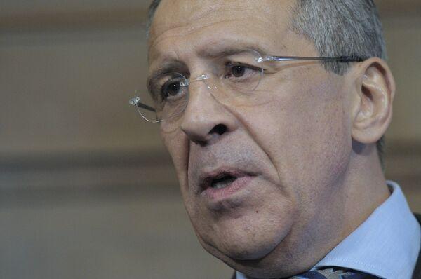 Russia's foreign minister Sergei Lavrov - Sputnik International