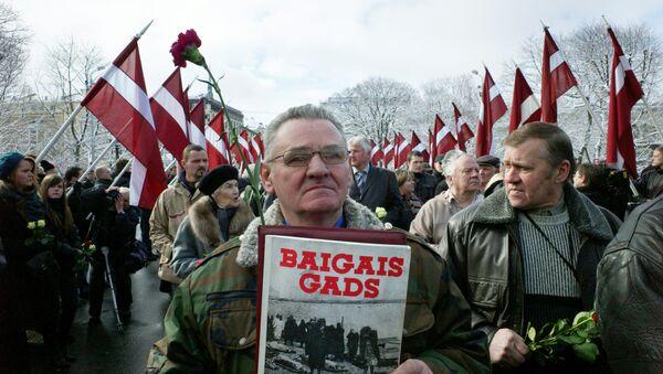 Procession of veterans of a legion Waffen SS in Riga - Sputnik International