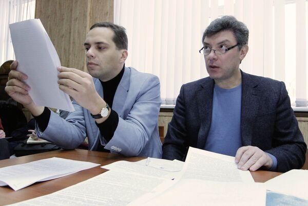 Vladimir Milov and Boris Nemtsov - Sputnik International
