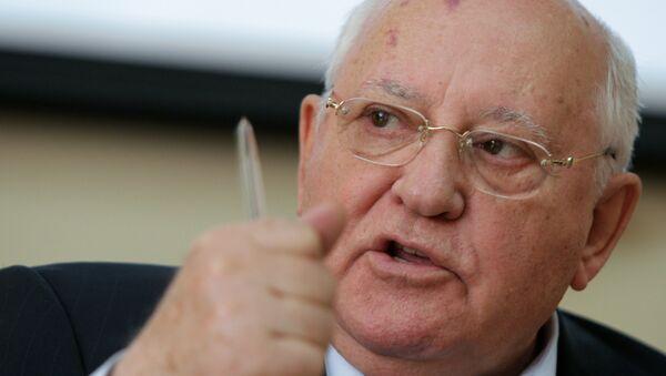 Mikhail Gorbachev during a press conference - Sputnik International