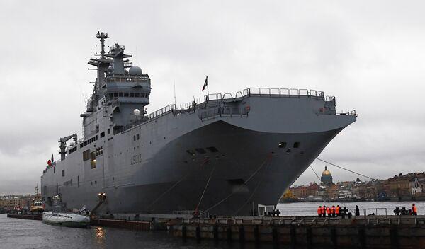 Russia Begins Construction of Mistral Ship Base - Sputnik International