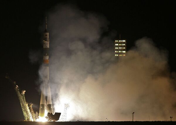 Anniversary launch of new expedition to ISS - Sputnik International