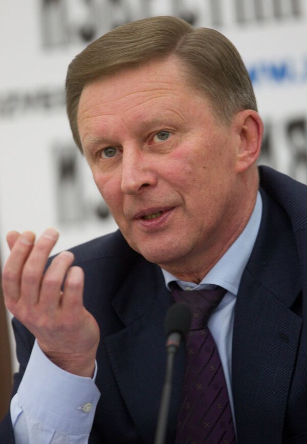 Head of the Kremlin administration Sergei Ivanov announces that western sanctions could spur the development of Russian industry and the cooperation of Moscow with other nations. - Sputnik International