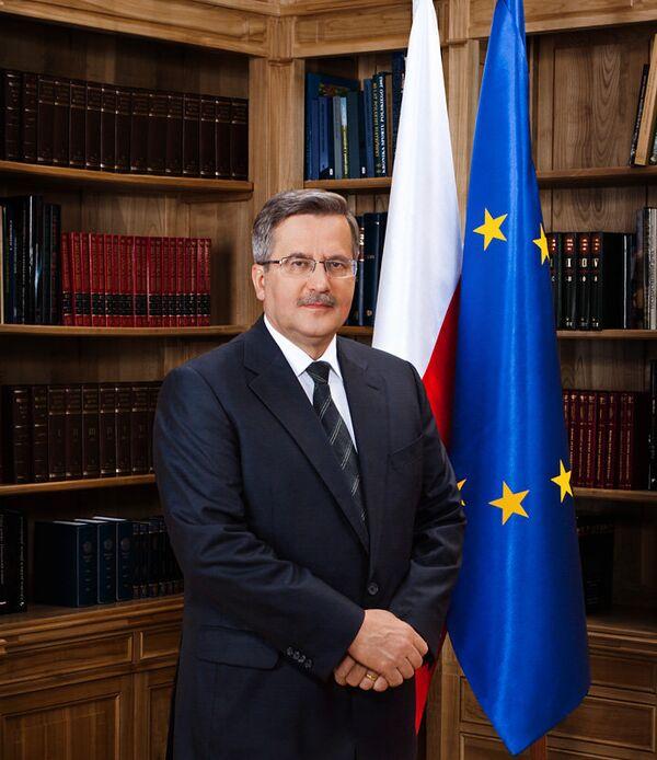 Polish President Bronislaw Komorowski - Sputnik International