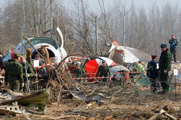 The site of the Polish president plane crash. Files - Sputnik International