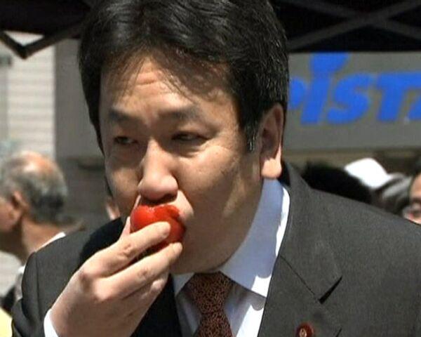 Japanese premier tastes strawberries from Fukushima prefecture - Sputnik International