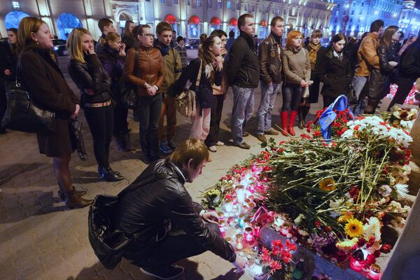 Aftermath the blast in Minsk metro - Sputnik International