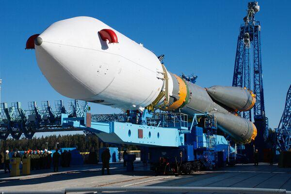 The Meridian 4 satellite is carried by a Soyuz-2.1a rocket. - Sputnik International