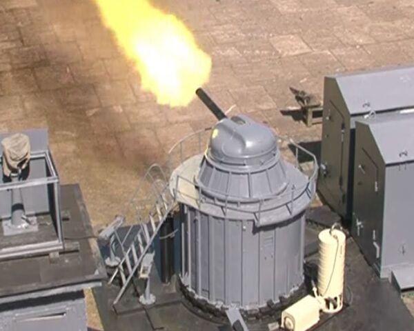 Naval vessels guns tested at Rzhevka firing range - Sputnik International