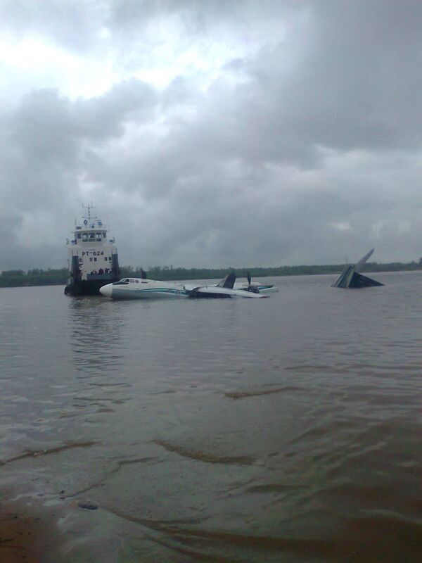 An-24 plane ditched in the Ob River on the border between the Tomsk and Khanty-Mansiisk regions - Sputnik International