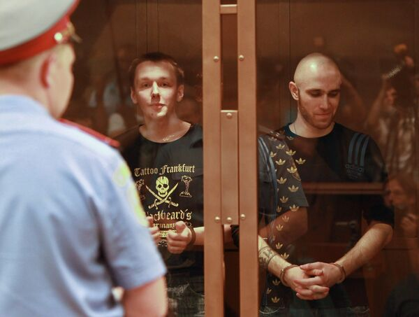 The Moscow District Military Court sentenced  Russian skinhead group to life in prison for series of killings - Sputnik International