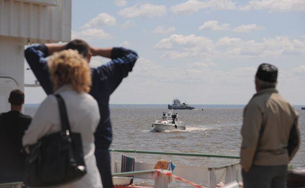 Twin-deck Bulgaria sank on Sunday near the village of Syukeyevo in the Republic of Tatarstan - Sputnik International