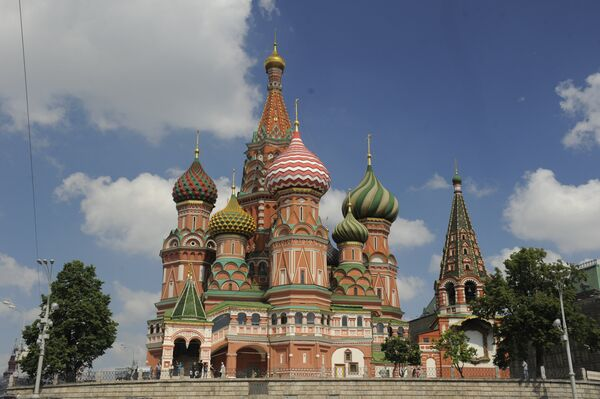 St. Basil's the Blessed (Protection Veil of Our Lady) Cathedral, better known as St. Basil's (Intercession) Cathedral (Cathedral of St. Basil the Blessed) - Sputnik International
