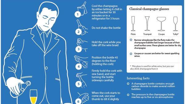 How to open champagne bottles - Sputnik International