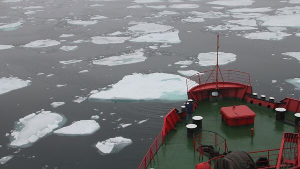 Ледокол Ямал в проливе Шокальского - Sputnik International