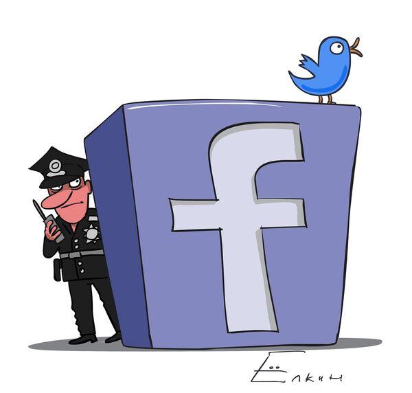 Police and social networks  - Sputnik International