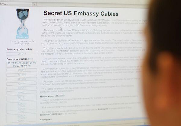 Wikileaks.org web-site - Sputnik International