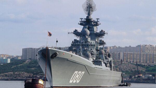 Heavy nuclear guided missile cruiser Admiral Nakhimov - Sputnik International