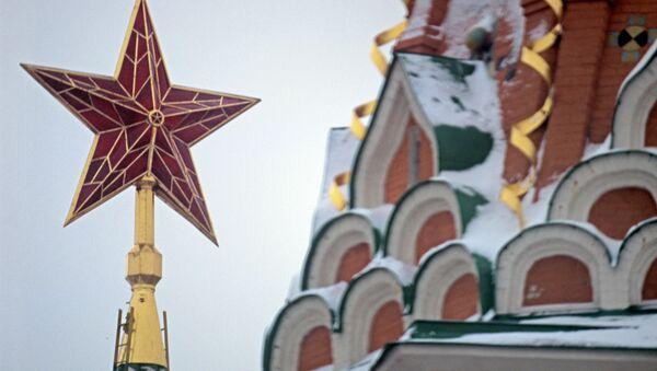 The star on the Spasskaya Tower of the Moscow Kremlin - Sputnik International