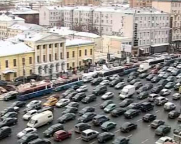 Moscow stuck in traffic jams on Car-Free Day - Sputnik International