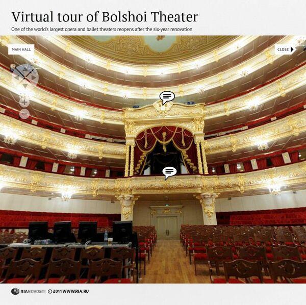 Virtual tour of Bolshoi Theatre - Sputnik International