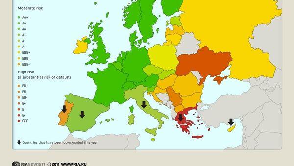 European countries' credit ratings - Sputnik International