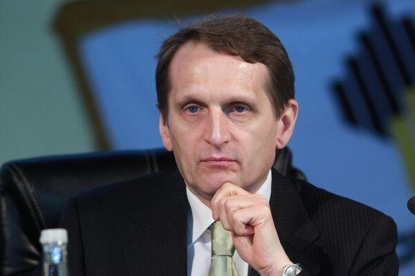 Sergei Naryshkin - Sputnik International