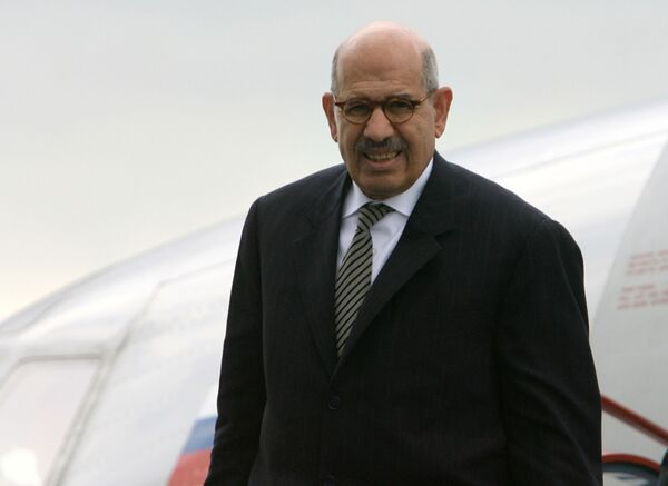 """El Baradei said it was high time for all political forces in the country """"to sit with each other and find a way out from the current crisis in Egypt,"""" and if they fail to agree """"the country will explode."""" - Sputnik International"""