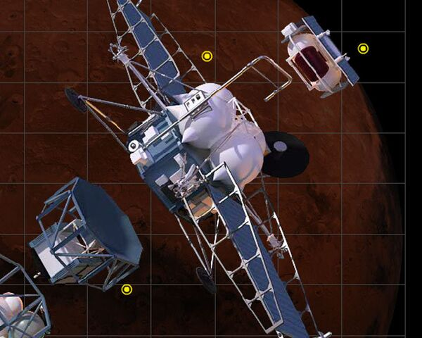 Phobos-Grunt, launched on November 9, was designed to bring back rock and soil samples from the Martian moon Phobos. - Sputnik International