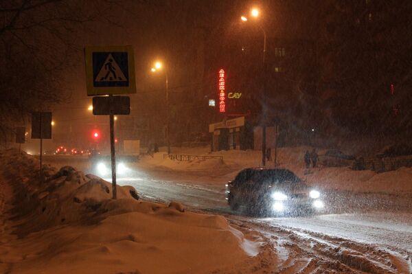 Snow on the streets - Sputnik International