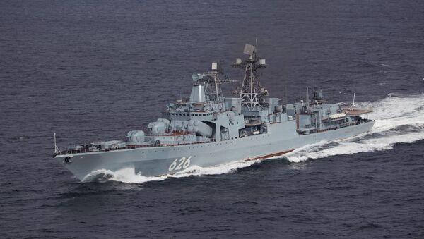 Russian Anti-Submarine Destroyer  Vice-Admiral Kulakov - Sputnik International