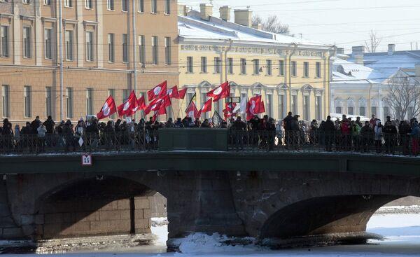 Thousands Rally Across Russia. Saint-Petersburg - Sputnik International