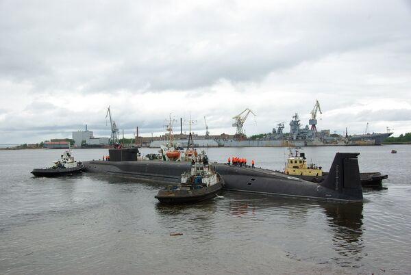 Nuclear-powered submarine Yury Dolgoruky - Sputnik International