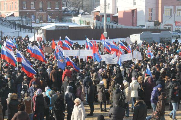 Putin Supporters Hold Rallies All Over Russia          - Sputnik International
