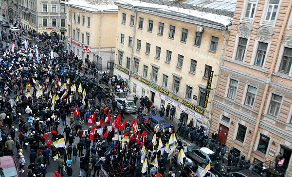March For Fair Elections in St. Petersburg, February 25 - Sputnik International