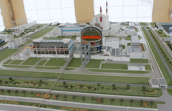 Model of Baltic Nuclear Plant - Sputnik International