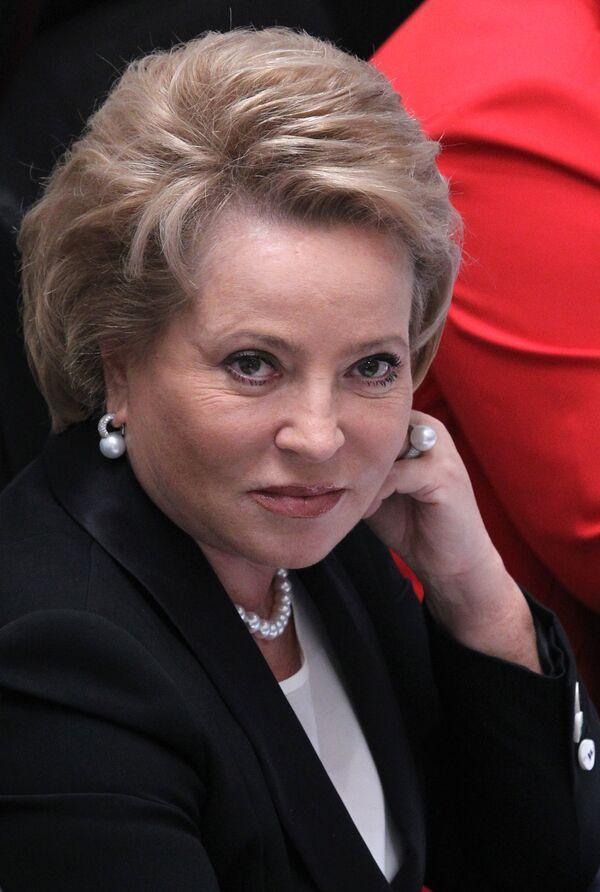 Valentina Matviyenko, speaker of the upper house of the Russian parliament - Sputnik International