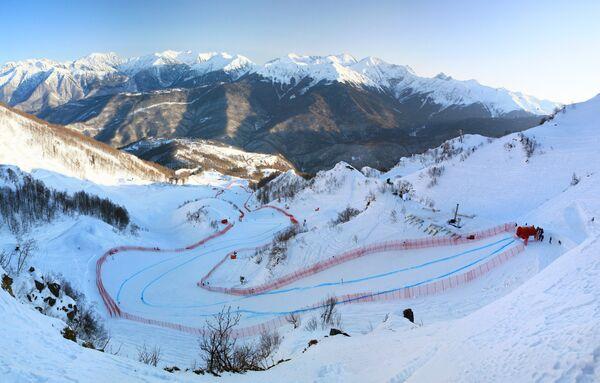 The Alpine skiing resort Rosa Khutor in the mountains above Sochi - Sputnik International