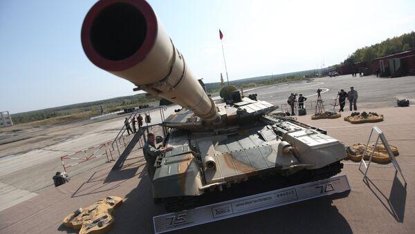 Танк Т-90АМ представленный на VIII Международной выставке вооружения - Sputnik International