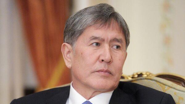 Kyrgyz President Almazbek Atambayev - Sputnik International