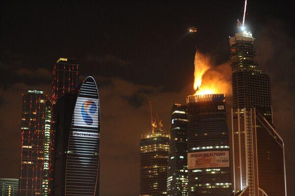 Fire at Moscow City Skyscraper - Sputnik International