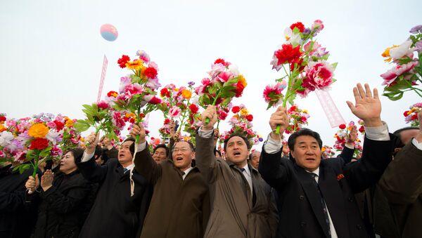 Unveiling of Kim Jong-il Monument in Pyongyang - Sputnik International