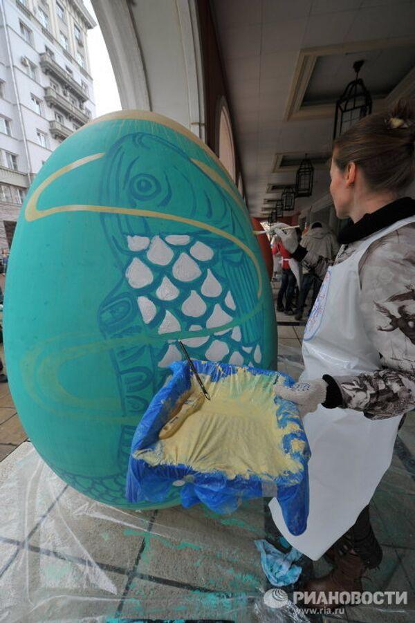 50 giant Easter eggs at the Living Art festival - Sputnik International