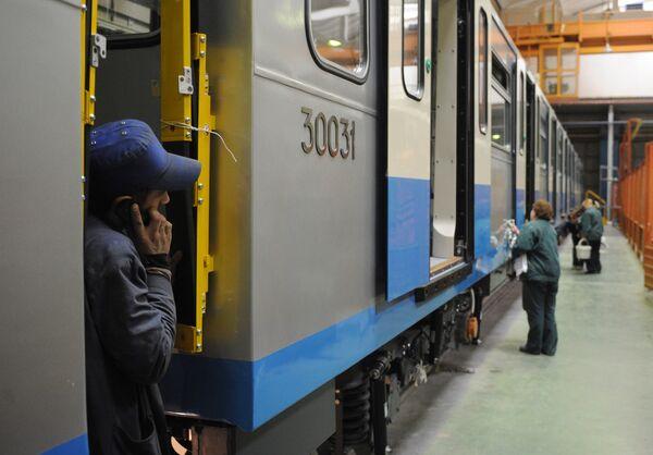 Metro cars production at Metrovagonmash plant - Sputnik International