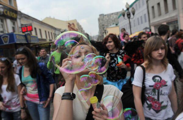 Soap bubble parade on Arbat Street - Sputnik International