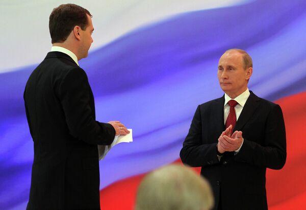 Dmitry Medvedev and Vladimir Putin - Sputnik International