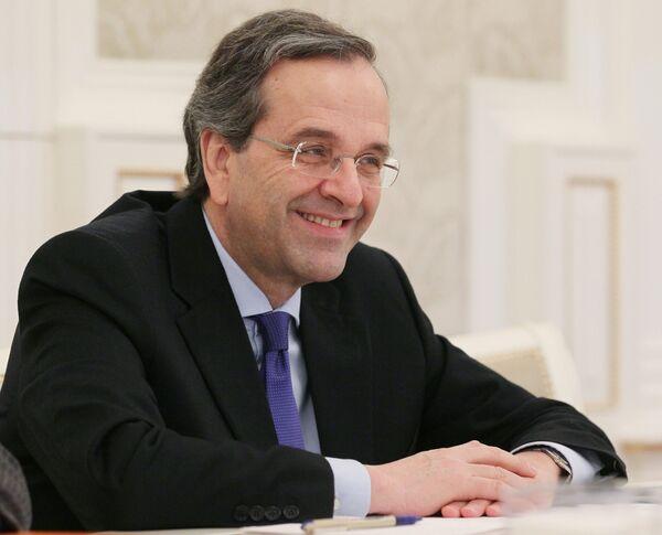 Greek conservative party leader Antonis Samaras - Sputnik International