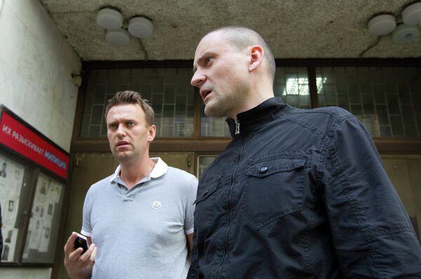 Alexei Navalny and Sergei Udaltsov - Sputnik International