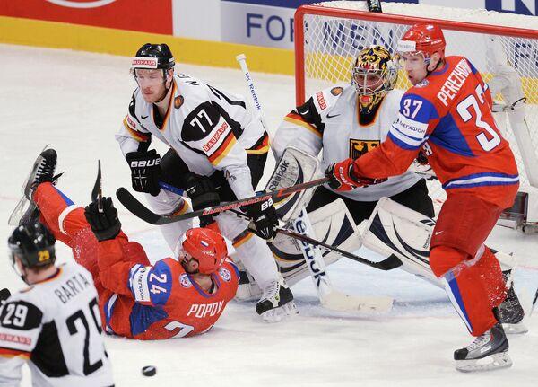 Russia beats Germany in the hockey world championships in Stockholm - Sputnik International